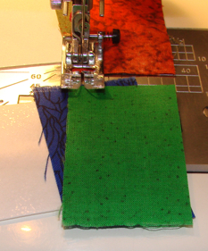 sewing second stitch