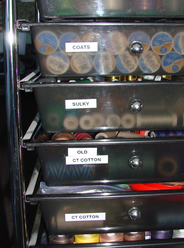 drawers labelled